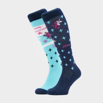 Blue COMODO Kids Novelty Blue Unicorn Socks