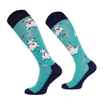 Blue COMODO Kids Novelty Lama Socks
