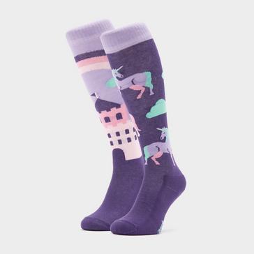 Purple COMODO Kids Novelty Unicorn Socks