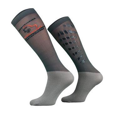 Grey COMODO Unisex Silicone Grip Socks