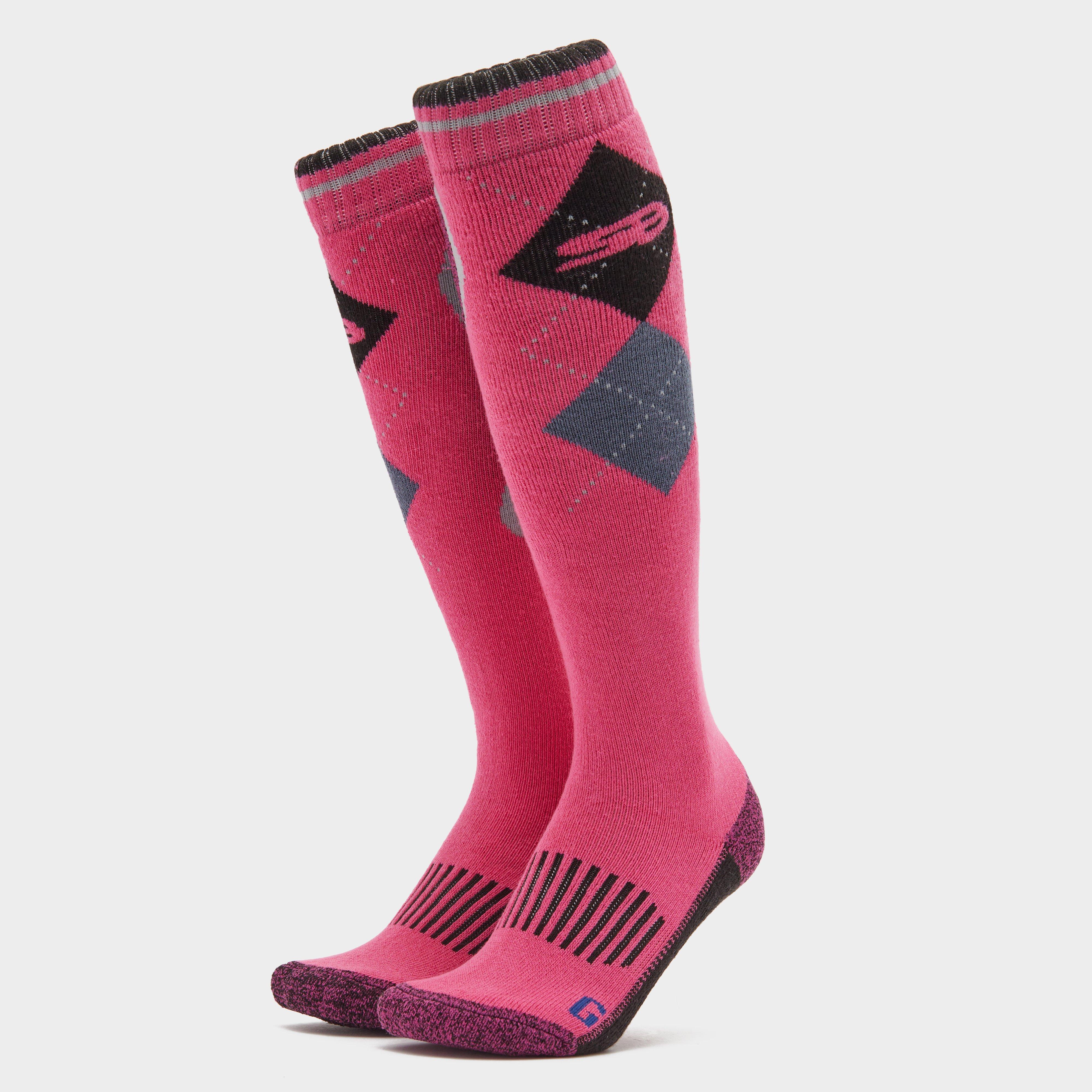Image of Storm Bloc Women's Patterdale Long Socks - Black/Black, Black/Black