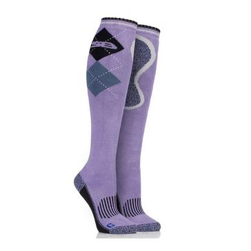 Purple STORM BLOC Women's Patterdale Long Socks