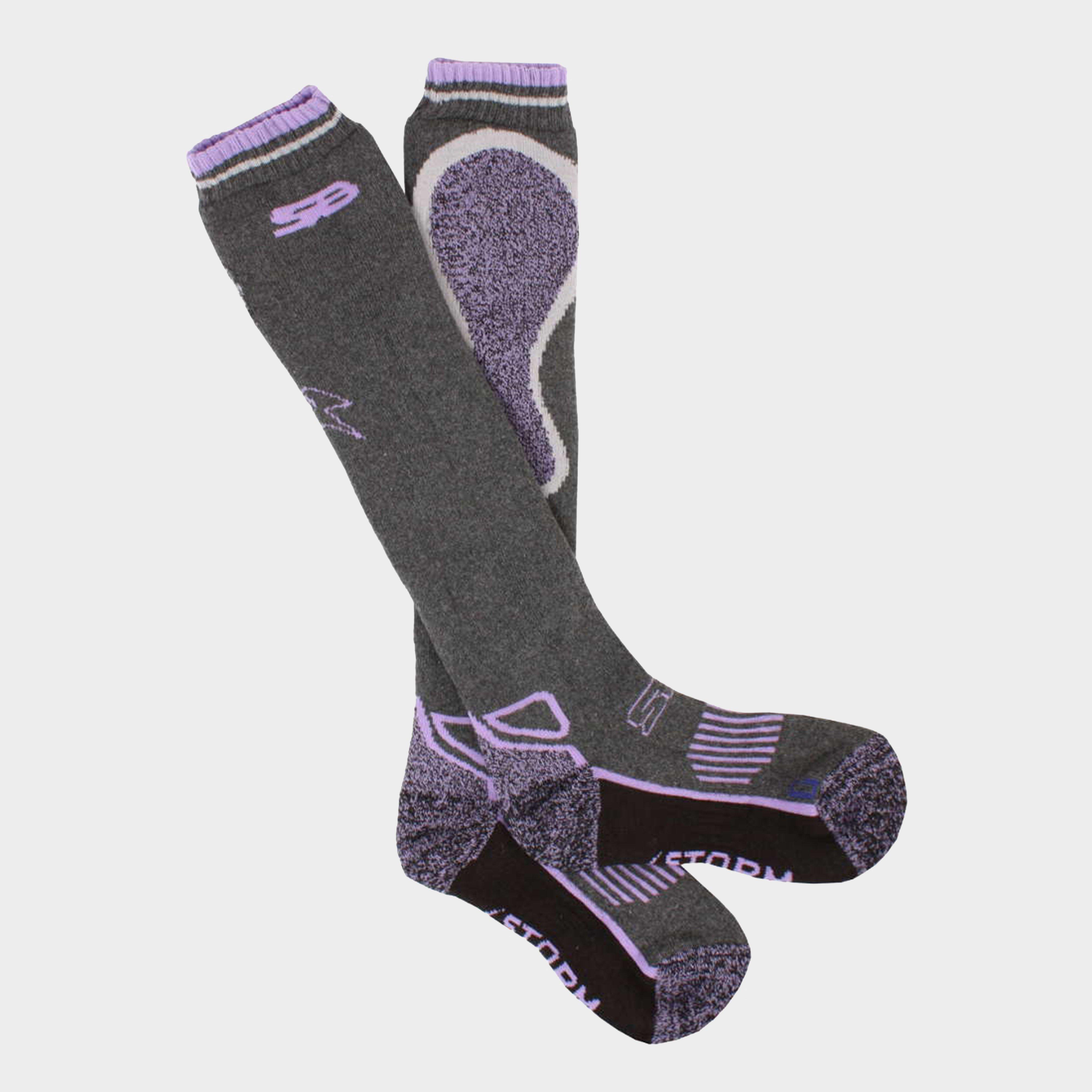 Image of Storm Bloc Women's Calderbeck Long Socks - Grey/Grey, Grey/Grey
