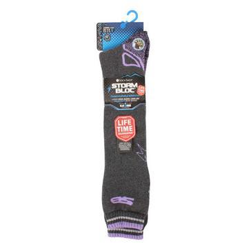Grey STORM BLOC Women's Calderbeck Long Socks