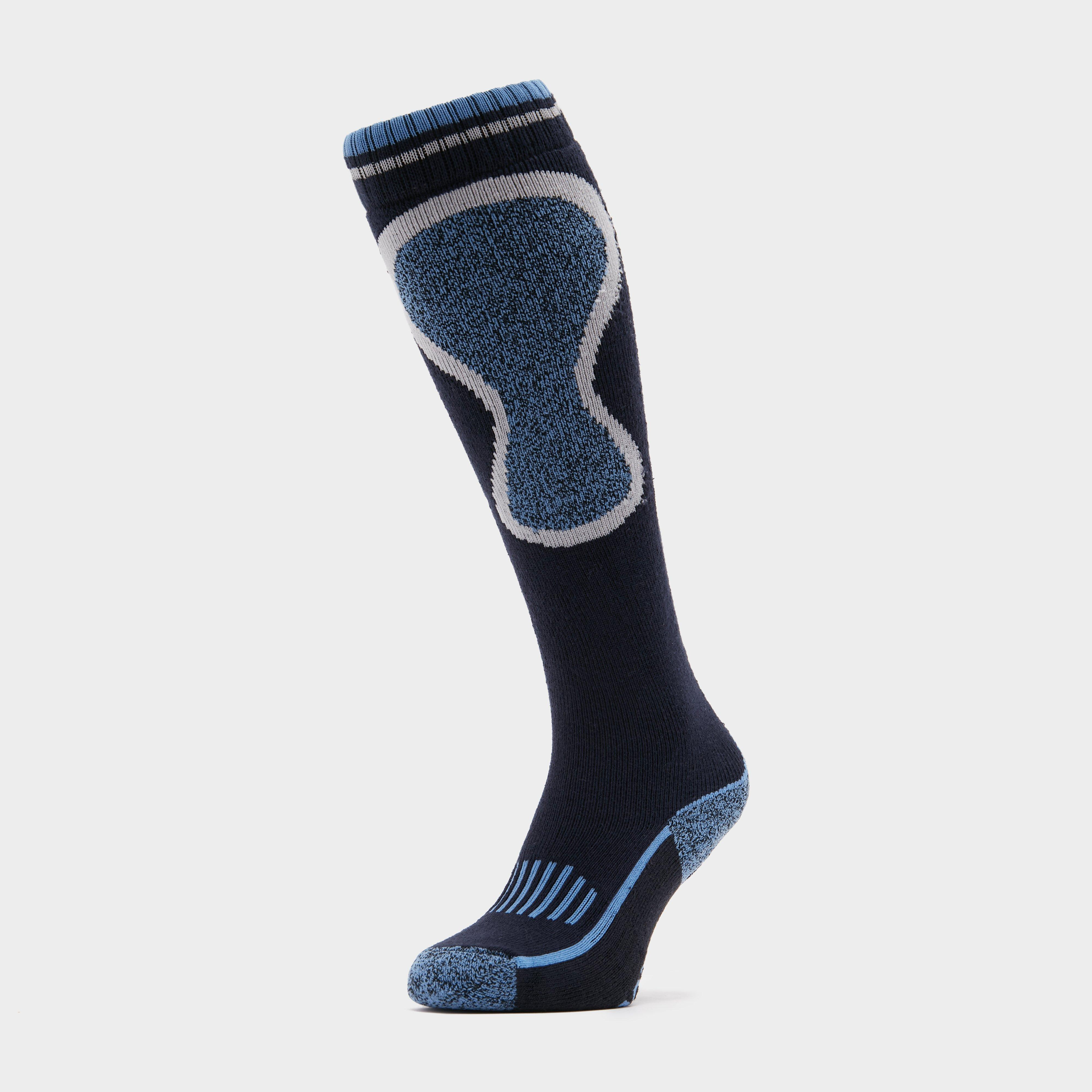 Image of Storm Bloc Women's Patterdale Logo Long Socks - Navy Blue/Navy Blue, Navy Blue/Navy Blue