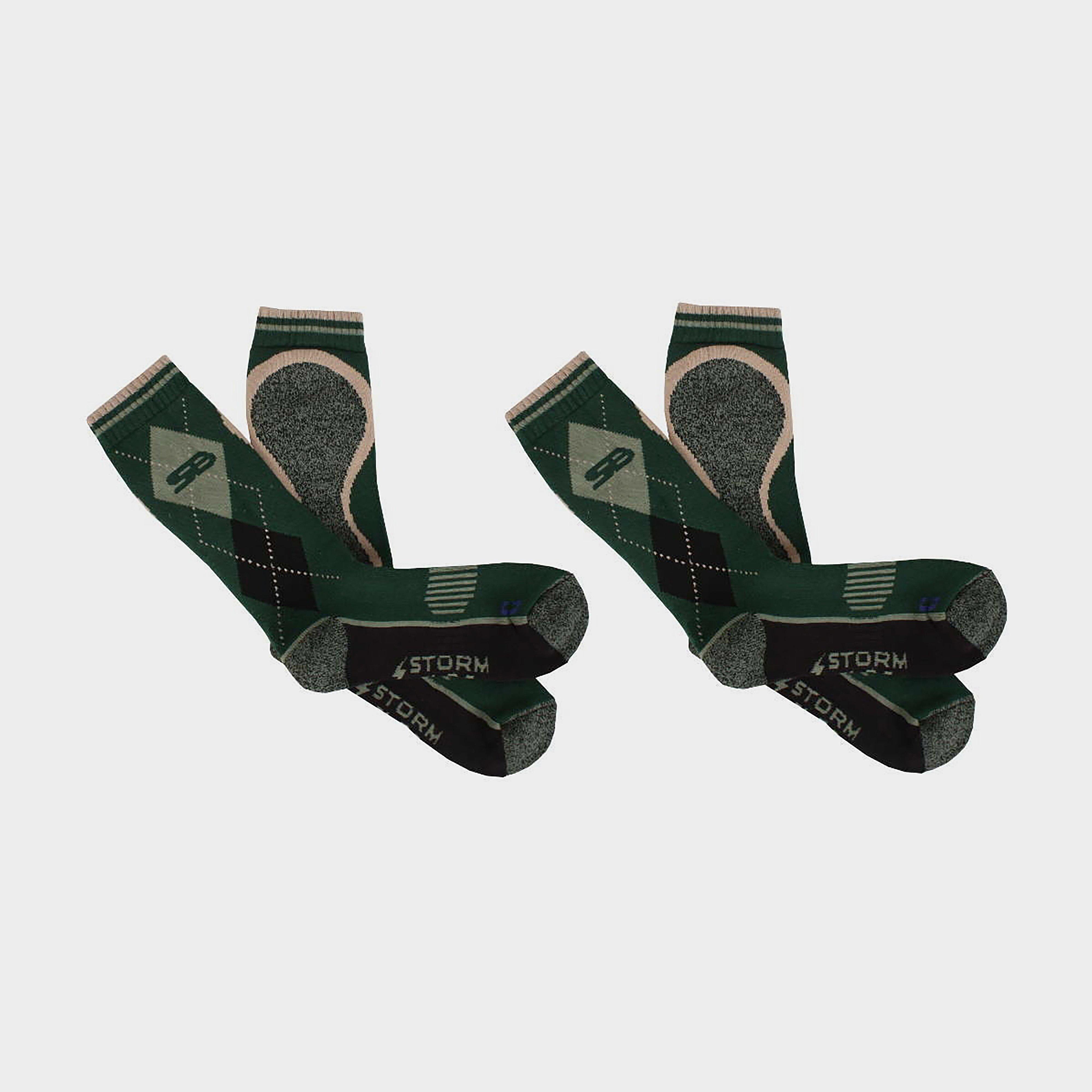 Image of Storm Bloc Women's Beverly Midweight Socks 2 Pack - Green/Green, Green/Green