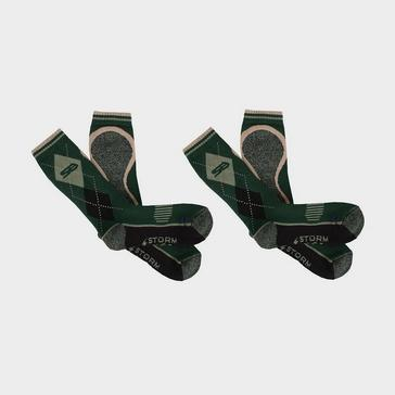 Green STORM BLOC Women's Beverly Midweight Socks 2 Pack