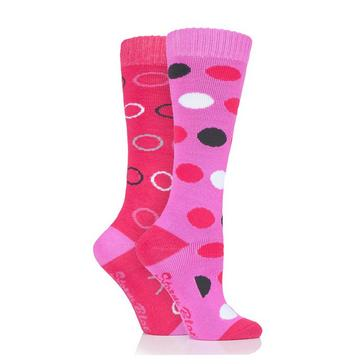 Pink STORM BLOC Beverly Midweight Socks 2 Pack