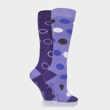 Purple STORM BLOC Women's Beverly Midweight Socks 2 Pack