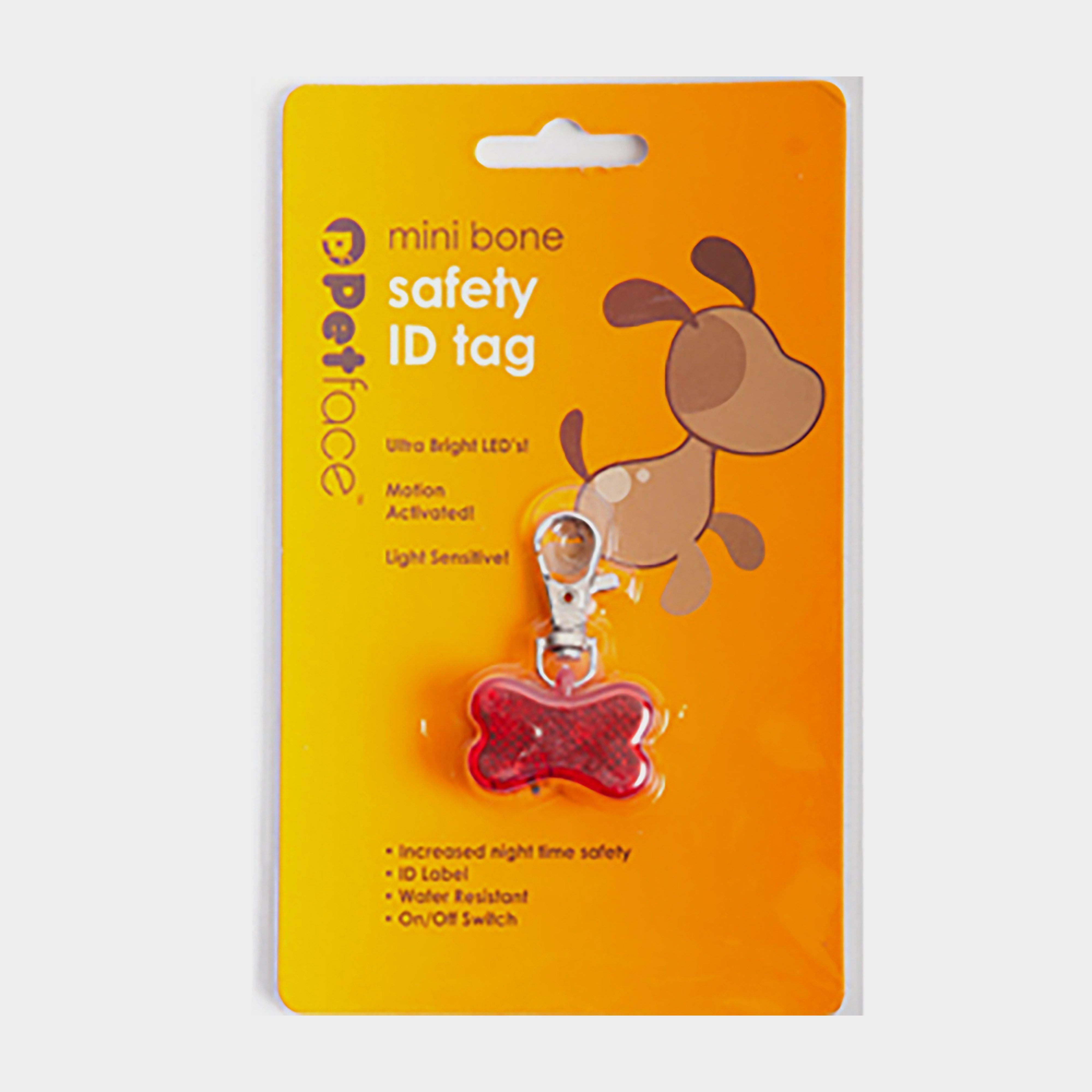 Image of Petface Outdoor Paws Bone Id Safety Tag - Red/Red, Red/Red