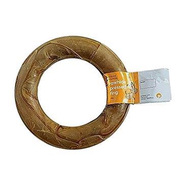 Brown PETFACE Rawhide Pressed Ring