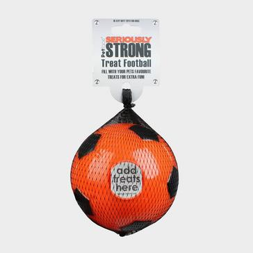ORANGE PETFACE Seriously Strong Treat Football