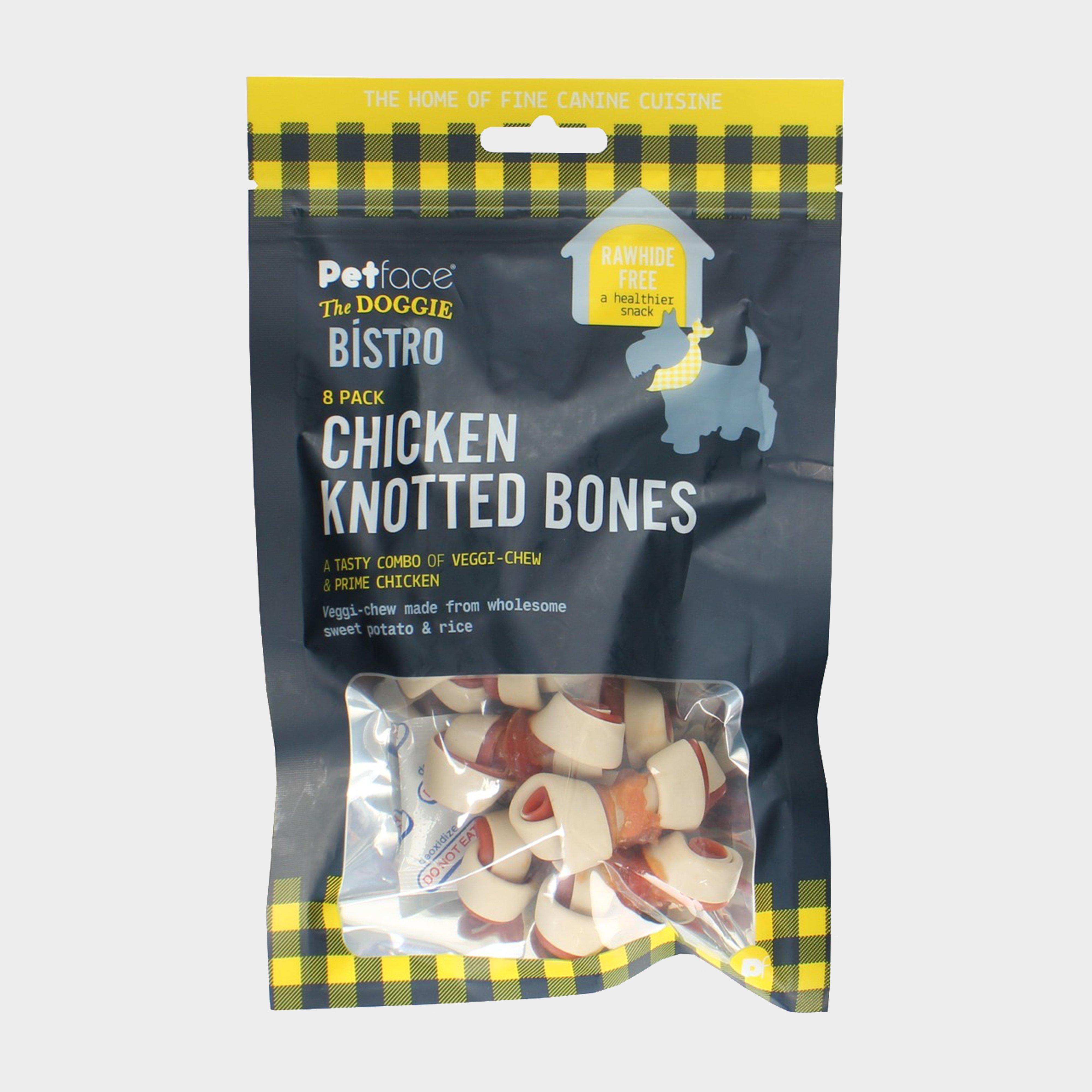 Image of Petface Doggy Bistro Chicken Knotted Bone - 8 Pack - Bone/Bone, BONE/BONE