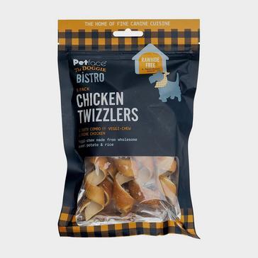 Orange PETFACE Doggie Bistro Chicken Twizzlers 5 Pack