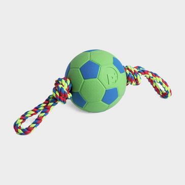 Green PETFACE Toyz Tug & Kick Ball