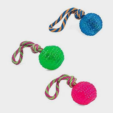 ASSORTED PETFACE Toyz Rope Bouncy Ball