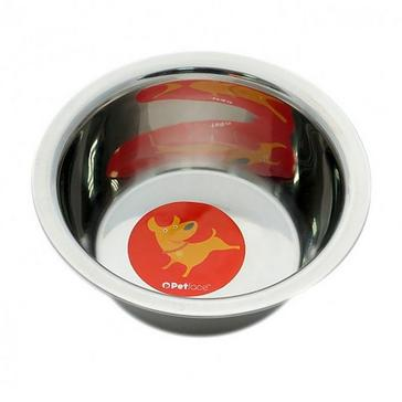 Silver PETFACE Stainless Steel Non Slip Bowl