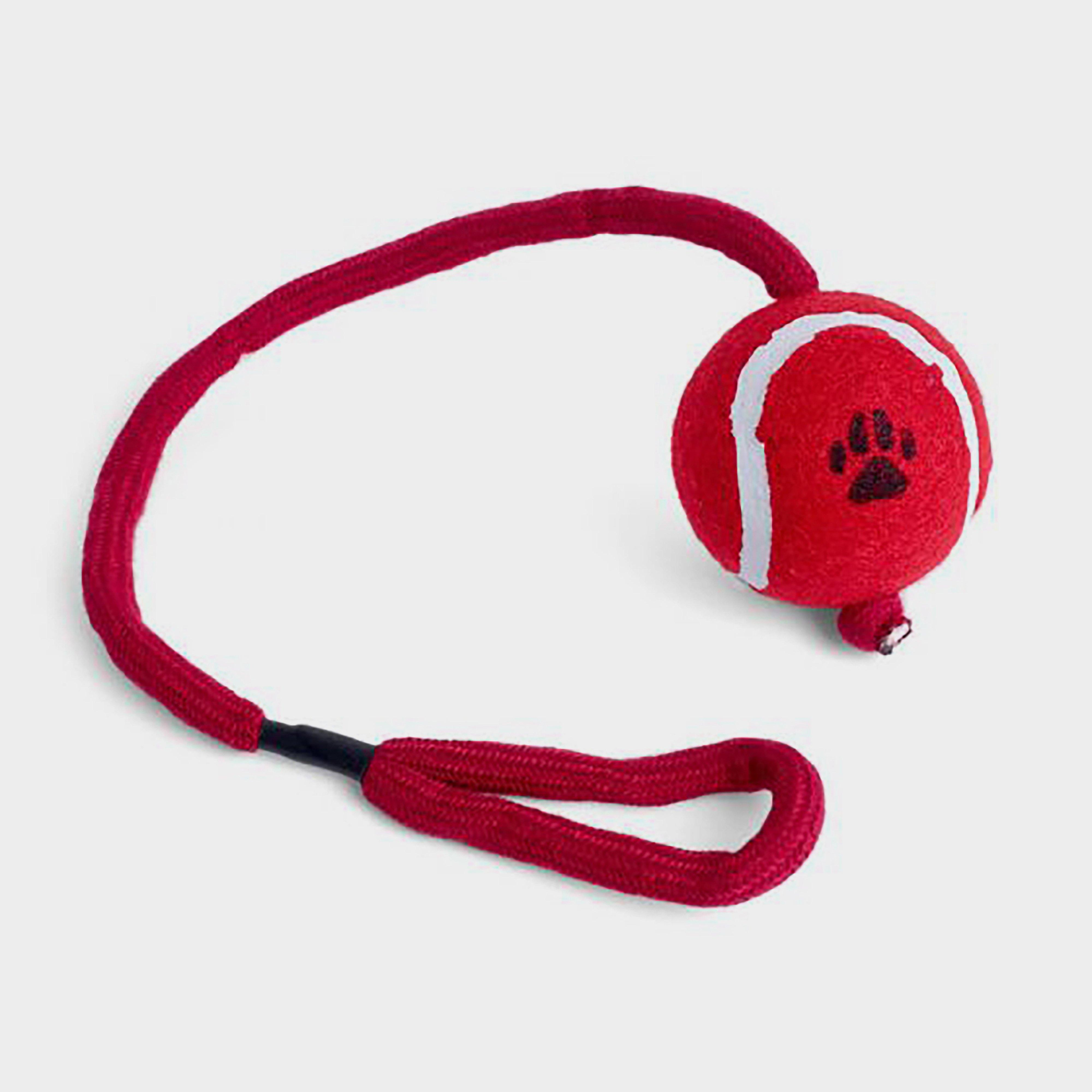 Image of Petface Ball On A Rope - Red/Rope, Red/ROPE