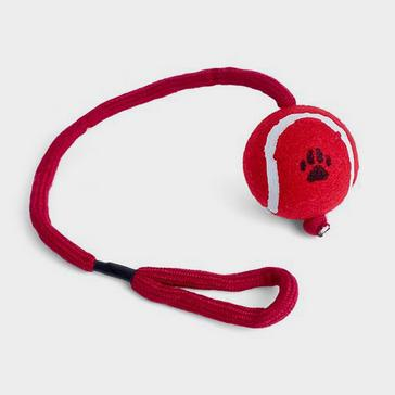 Red PETFACE Ball on a Rope
