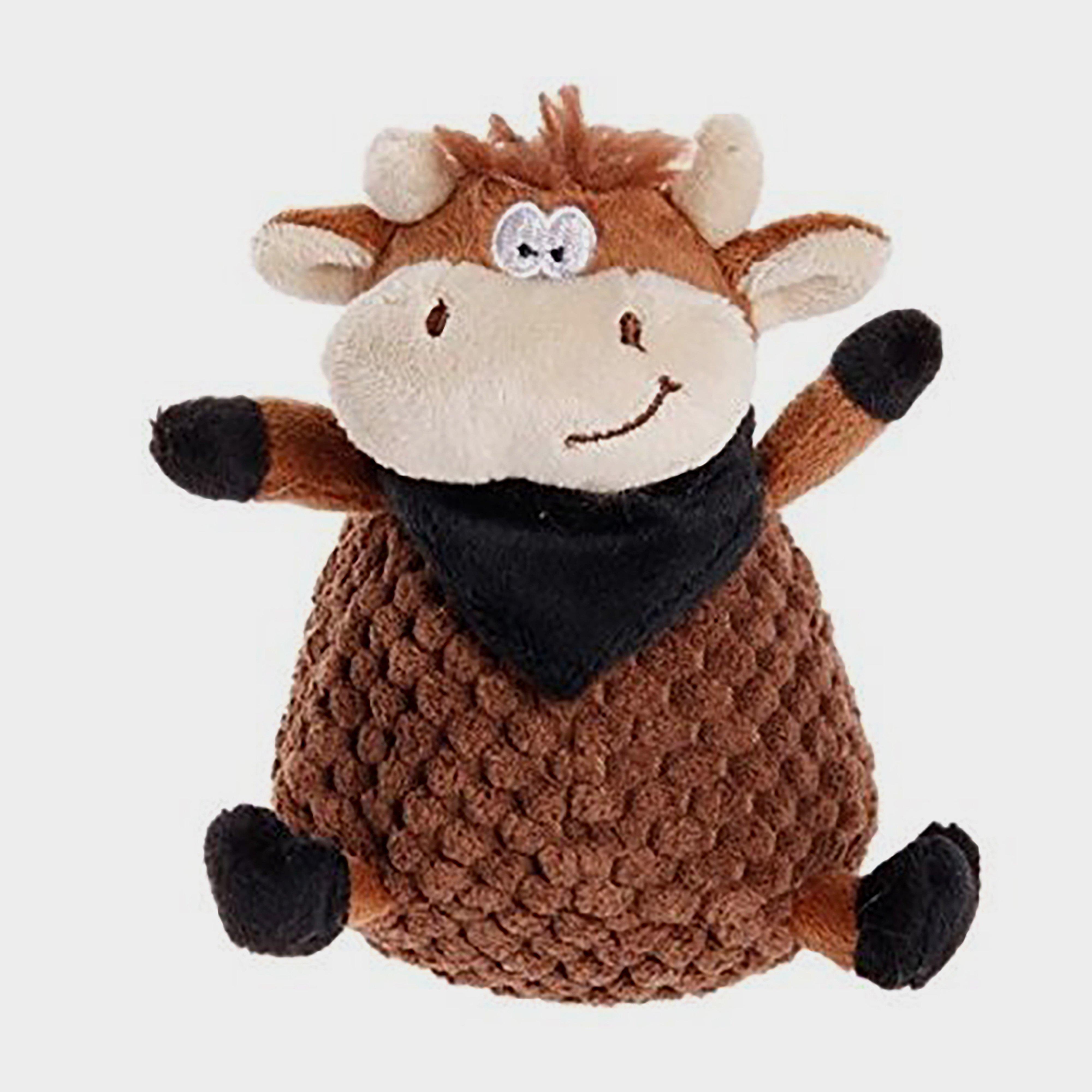 Image of Petface Farmyard Buddies Chunky Cow - Brown/Brown, BROWN/BROWN