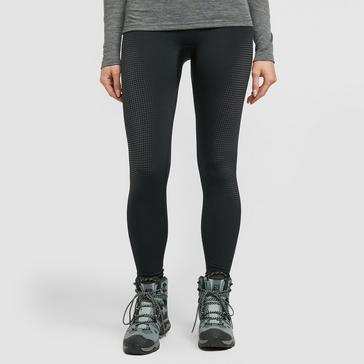 Black Odlo Women's PERFORMANCE WARM ECO Baselayer Pants
