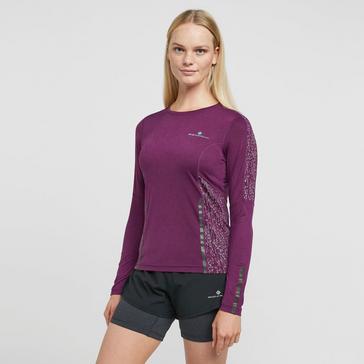 PURPLE Ronhill Women's Nightrunner Long Sleeve Tee