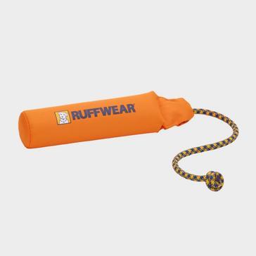 Orange Ruffwear Lunker Floating Throw Toy