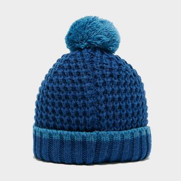 Blue Berghaus Kids' Striped Bobble Beanie Hat