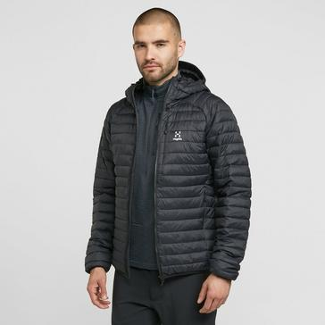 Black Haglofs Men's Essens Mimic Hooded Jacket