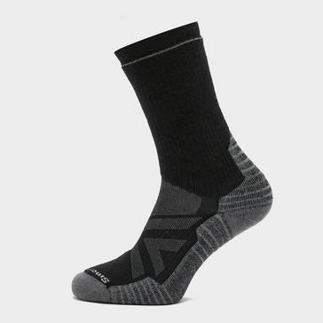 Black Smartwool Men's Hike Full Cushion Crew Socks