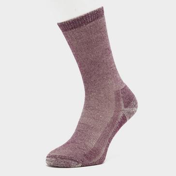 Purple Smartwool Women's Hike Classic Edition Full Cushion Crew Socks