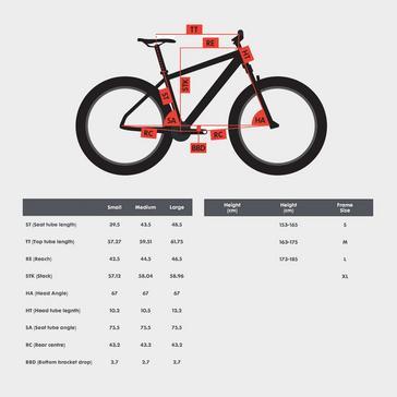 "Red POLYGON Sisku D5 27.5"" Full Suspension Mountain Bike"