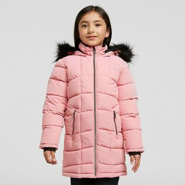 Pink Dare 2B Kids' Striking Waterproof Quilted Jacket