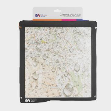 Grey Ordnance Survey Waterproof Map Case