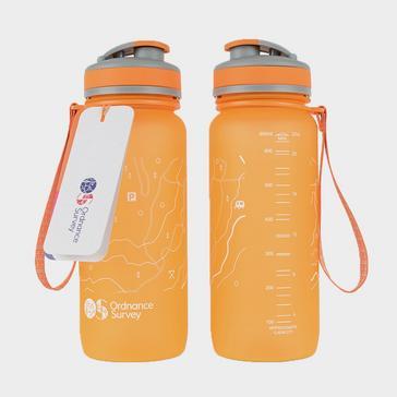 Orange Ordnance Survey Water Bottle (650ml)