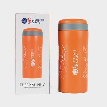 Orange Ordnance Survey Thermal Mug