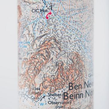 White Ordnance Survey Ben Nevis Thermal Bottle