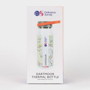 White Ordnance Survey Dartmoor Thermal Bottle