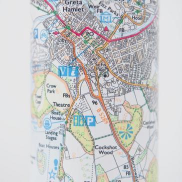 White Ordnance Survey Lake District Thermal Bottle