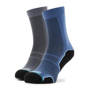 Grey 1000 MILE Men's Trek Socks 2 Pack