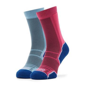 PURPLE 1000 MILE Women's Trek Socks 2 Pack