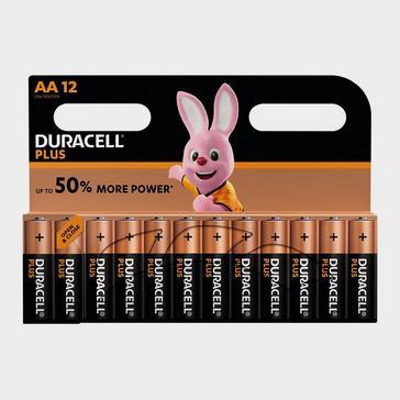 Black Duracell AA Plus Batteries (12 pack)