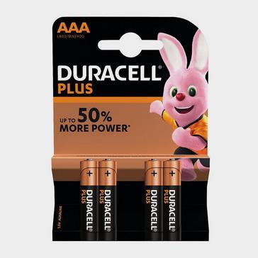 Black Duracell AAA Plus Batteries (4 pack)