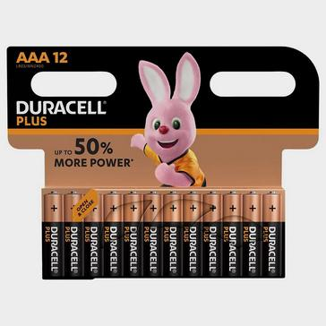 Black Duracell AAA Plus Batteries (12 pack)