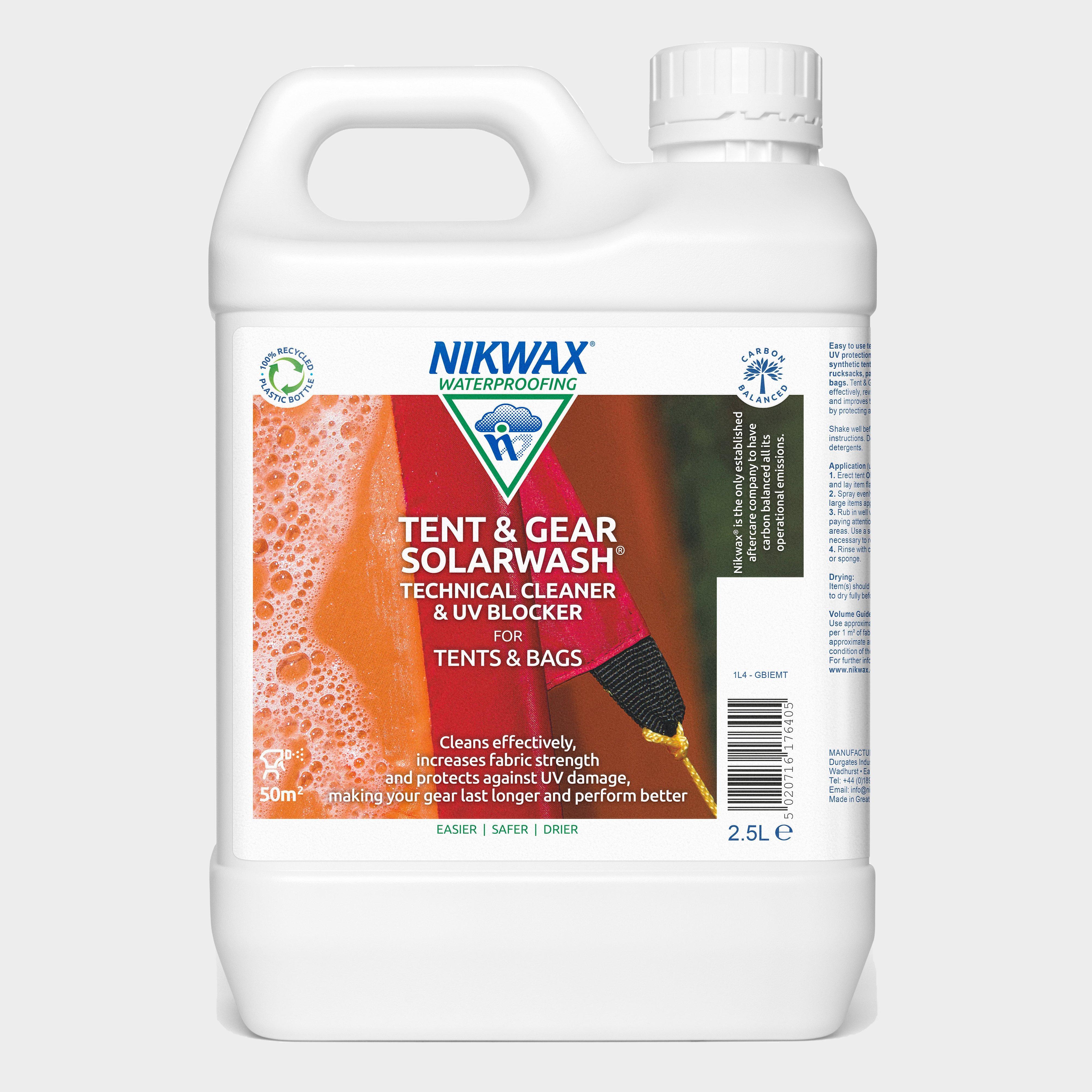 Image of Nikwax Tent & Gear Solarwash 2.5L - White/Litre, White/LITRE