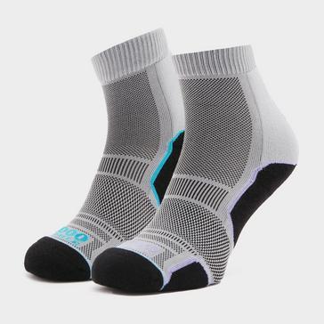 Grey 1000 MILE Women's Trail Socks Twin Pack