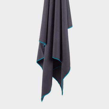 Grey LIFEVENTURE Recycled SoftFibre Towel Large