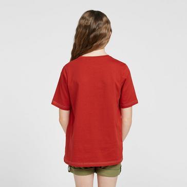 Red Craghoppers Kids' Gibbon Short Sleeve T-Shirt