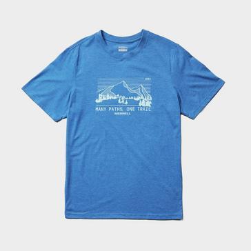 Blue Merrell Men's Mountain Range T-Shirt