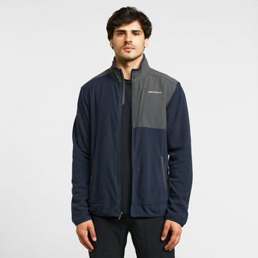 Navy Merrell Men's Terrain Full Zip Fleece